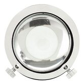 Gobo Magnifying Lens in Chrome and Satin Nickel