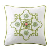 Gramercy Paisley Square Pillow in White