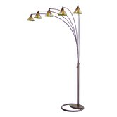Mission Five Light Arc Floor Lamp in Antique Bronze
