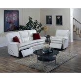 Viva 2 Piece Leather Reclining Living Room Set