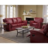 Brunswick 3 Piece Leather Living Room Set