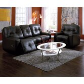Mystique 2 Piece Leather Reclining Living Room Set