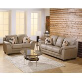 Sirus 2 Piece Leather Living Room Set