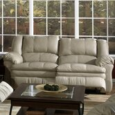 Gamma Leather Reclining Sofa
