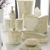 Bedminister Scroll Bath Accessory Collection in Crème Brulee