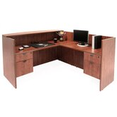 "71"" x 82"" Double Pedestal Reception Station"