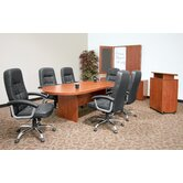 120&quot; x 47&quot;  Racetrack Conference Table Office  Set