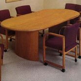 "Contemporary Series 96""  Oval Conference Table (curved panel base)"