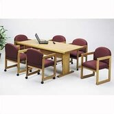 "Contemporary Series 120"" Rectangular Conference Table (Trestle Base)"