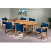 Contemporary Series 96&quot; Oval Conference Table (Trestle Base)