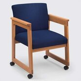 Classic Tapered Guest Arm Chair with Sled Base