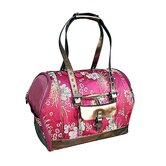 Precious Tote-o-Pet Carrier in Burgundy Flower Brocade
