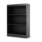 Axess Three Shelf Bookcase in Black