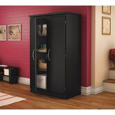 Morgan Collection Storage Cabinet in Pure Black