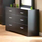 Back Bay 6 Drawer Double Dresser