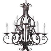 Manor 9 Light Candle Chandelier