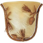 Pine Grove Small  Wall Sconce in Pine Tree