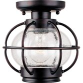 Portsmouth  Outdoor Flush Mount in Oil Rubbed Bronze