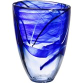 Contrast Vase in Blue