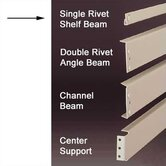 RivetRite Parts - Heavy Duty Single Rivet Shelf Beams