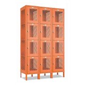 Invincible II Lockers - Four Tier - 3-Section (Assembled)