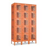 Invincible II Lockers - Five Tier - 3-Section (Assembled)
