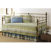 Fresno 5 Piece Daybed Set in Green Stripe