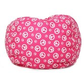 Peach Sign Bean Bag Chair