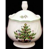 Happy Holidays Sugar Bowl with Lid