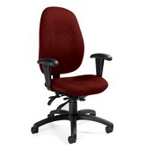 High-Back Pneumatic Multi-Tilter Office Chair with T-Arms