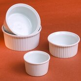 Classic White 2 oz. Pleated Ramekin