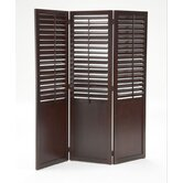 Plantation Shutter Folding Screen
