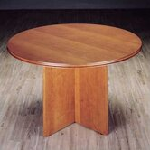 Contempory Round Veneer Gathering Table