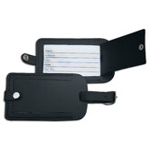 1000 Series Classic Leather Luggage Tag in Black