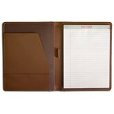 Leather Portfolios Top-Grain Standard Padfolio in Chocolate