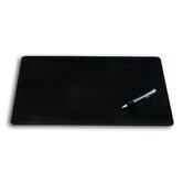 1000 Series Classic Leatherette 24 x 19 Desk Mat without Rails in Black