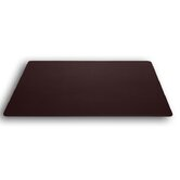1000 Series Classic Leather 30 x 19 Desk Mat without Rails in Chocolate Brown