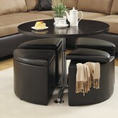 Rowley Gas Lift Coffee Table with Ottomans