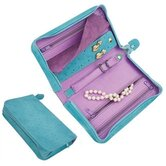 """Pisa"" Small Zippered Jewelry Travel Case"
