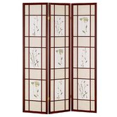 3 Panel Room Divider in Cherry