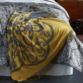 Medallion Throw Reversible in Storm Grey / Mustard