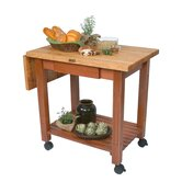 American Heritage Kindred Prep Table with Butcher Block Top