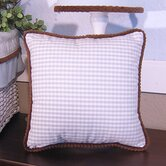 Blue Chocolate Pillow in Blue Gingham