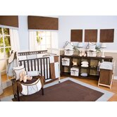 Blue Chocolate Crib Bedding Collection