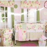 Minky Pink Bubbles 4 Piece Crib Bedding Set