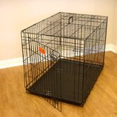 Single Door Folding Coated Steel Wire Dog Crate