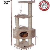 "52"" Casita Fur Cat Tree"