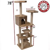 78&quot; Casita Fur Cat Tree