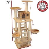 "72"" Casita Fur Cat Tree"