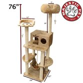 "76"" Casita Fur Cat Tree"